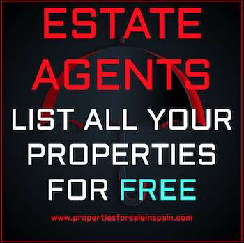 Estate Agents in Spain can Advertise all their properties for free on this Free Spanish Property Portal